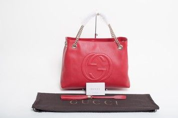 1b7d4e53377f Gucci Soho Chain Red Shoulder Bag. Get one of the hottest styles of ...