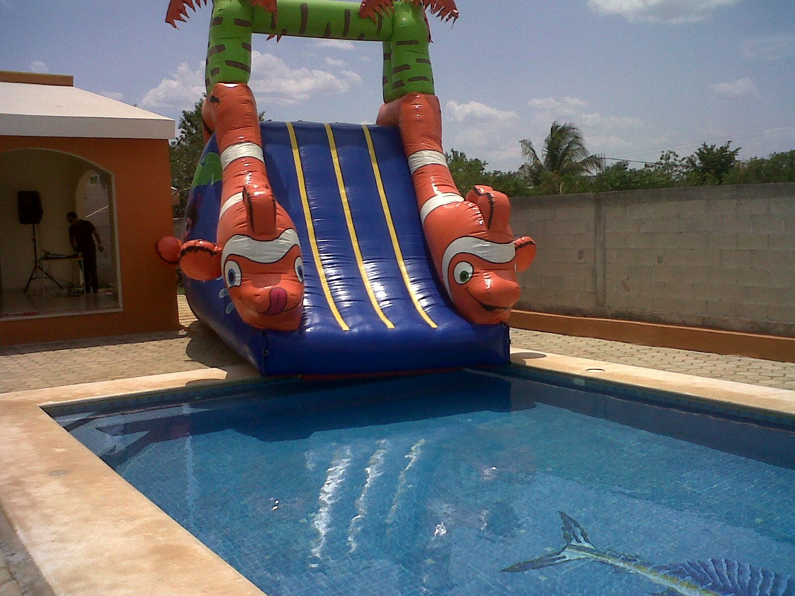 Piscina Con Tobogan Inflable Tobogán Para Piscina Inflatables Pinterest