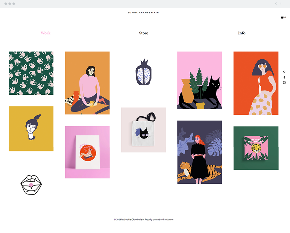 The Illustrator | Website Template | Wix Website Templates ...