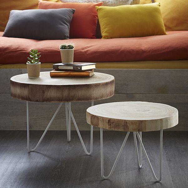 table basse rondin de bois zodio table d coration bois home decoration trunk furniture. Black Bedroom Furniture Sets. Home Design Ideas