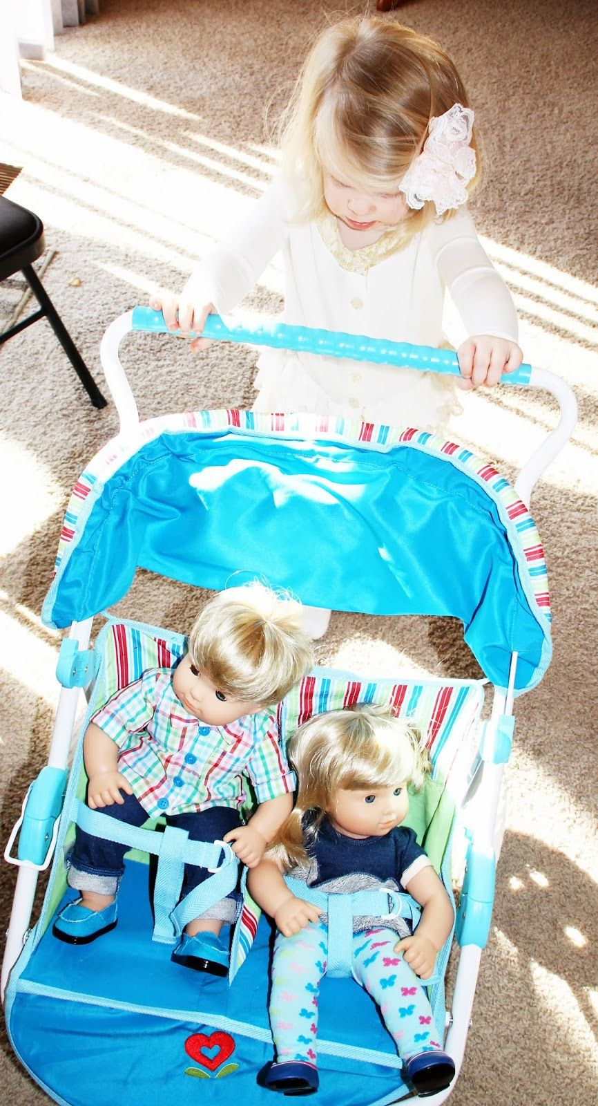 American Girl Doll Bitty Twins and Stroller Bitty baby