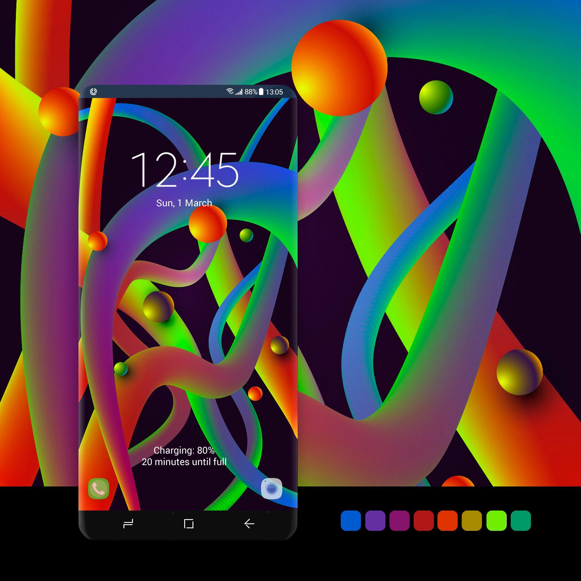 Neon glow shapes samsung galaxy wallpaper galaxy