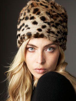 Russian Fur hat by Adrienne Landau  349be4f0755