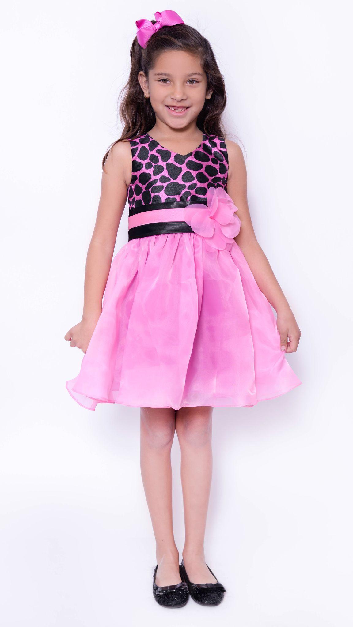 Cheetah print sleeveless party dress toddler girl