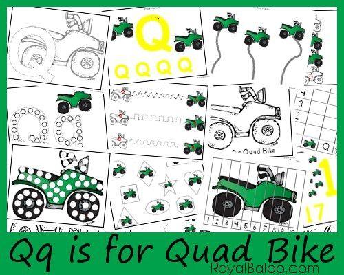 Qq Is For Quad Bike Zoomin Moving Abcs Royal Baloo Transportation Theme Preschool Abc Activities Transportation Preschool