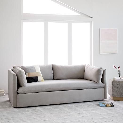 Shelter Sofa Deep Seated Sofa Upholstered Furniture West Elm Sofa