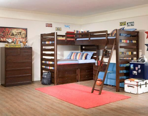 Photo of 5 Wonderful Ideas of Triple Bunk Beds for Your Kids' Bedroom – Simple Home Decor