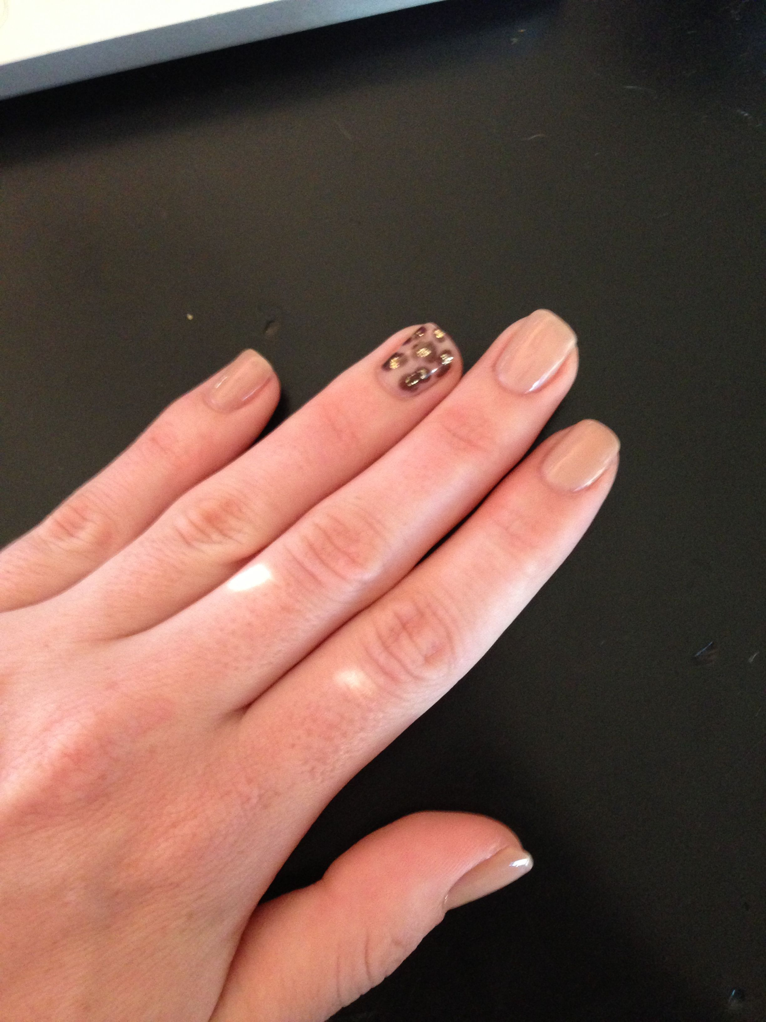 No Chip Nails With Leopard Print Design My Style Pinterest