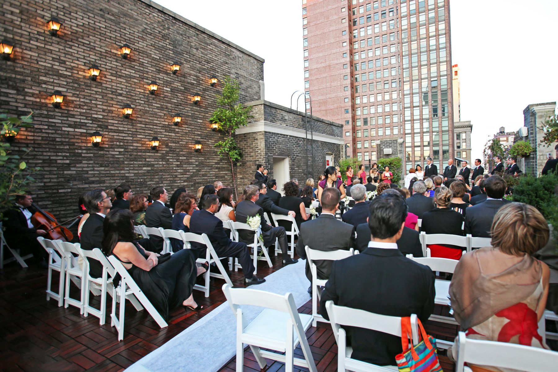 Explore Wedding Rehearsal Dinnerore Outdoor Ceremony At The Midtown Loft Terrace