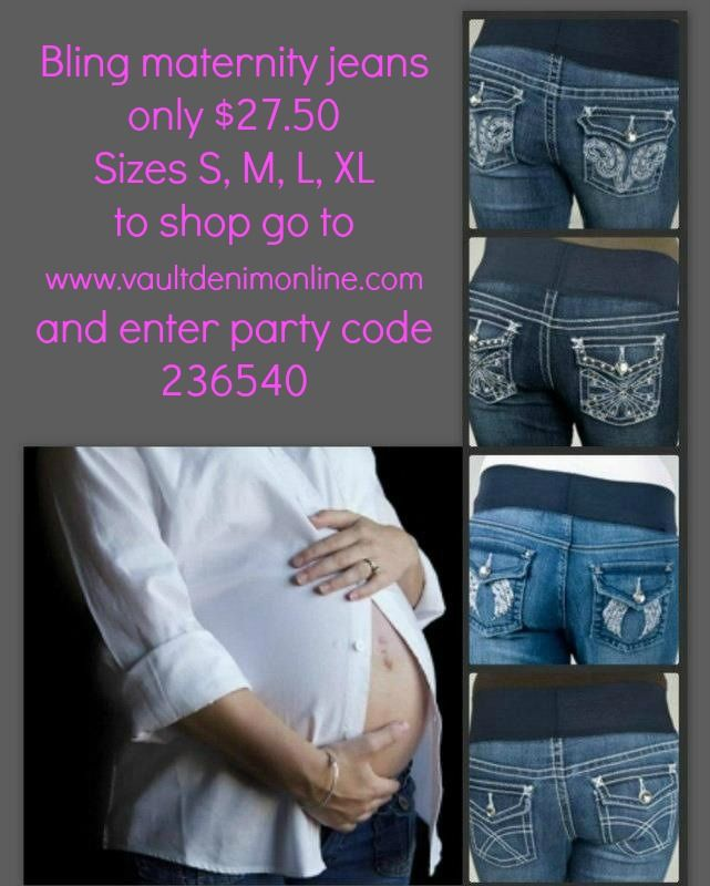 9fad89004114e Cute bling maternity jeans only $27.50! | MATERNITY WEAR | Maternity ...