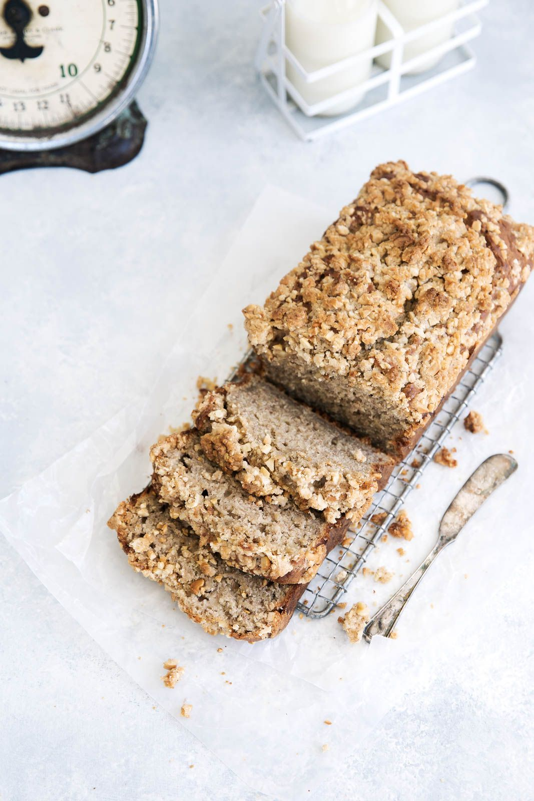 Chai Banana Bread with Chai Streusel