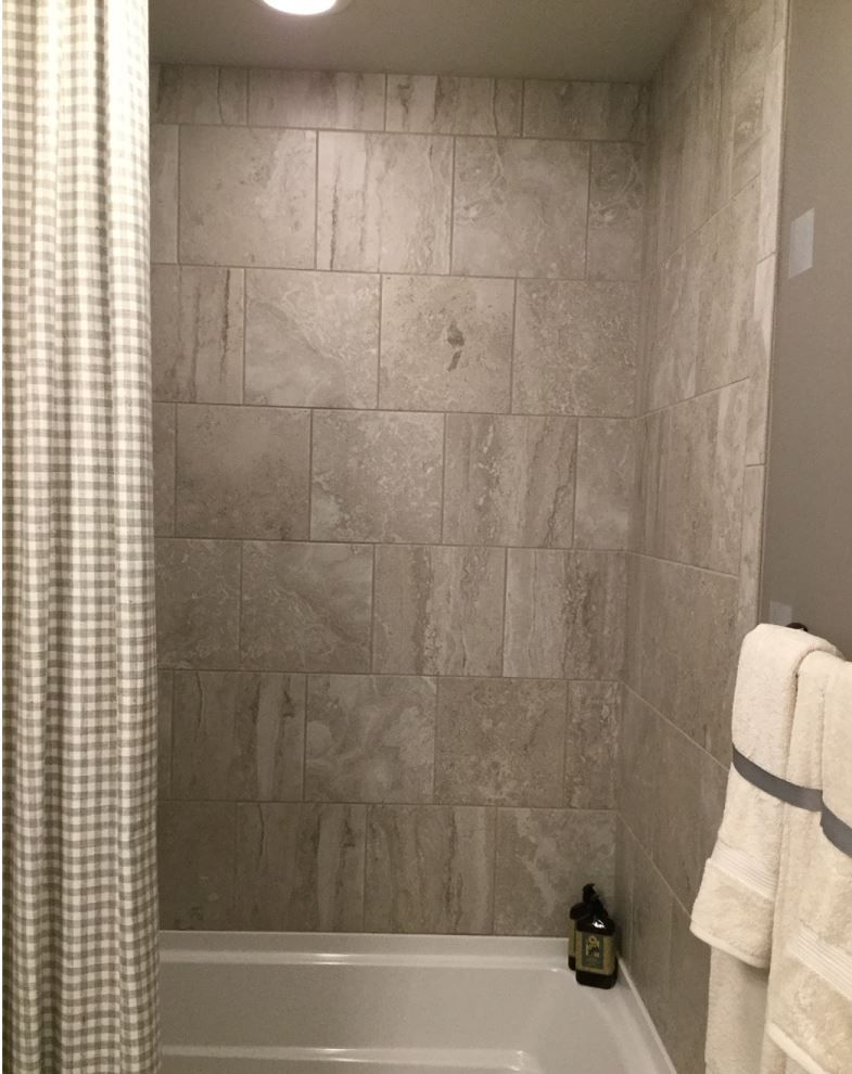Exquisite 12x12 Chantilly Eq11 Brick Joint Wall Tile Patterned Bathroom Tiles Shower Tile Bathtub Walls