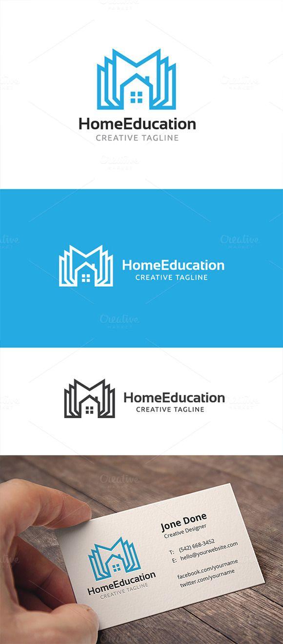 Home Education Logo Desain Logo Buku Desain