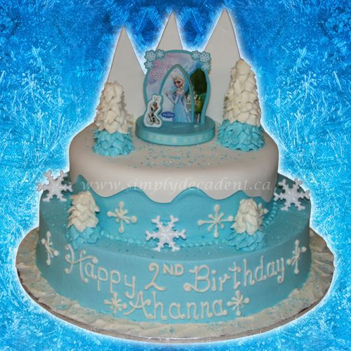 2 Tier Disney Frozen Elsa DecoPac Birthday Cake with Buttercream