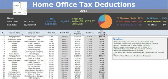 home office deduction tracking tax writeoff excel spreadsheet by expressexcel home based. Black Bedroom Furniture Sets. Home Design Ideas