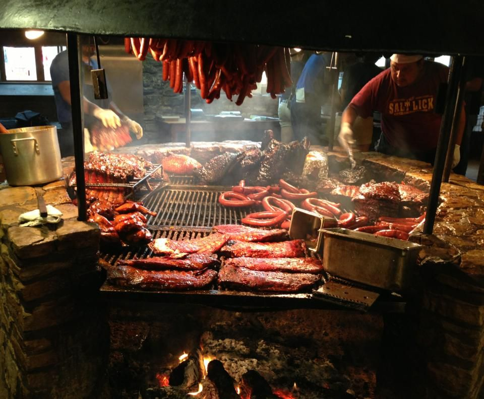 Salt lick barbeque driftwood