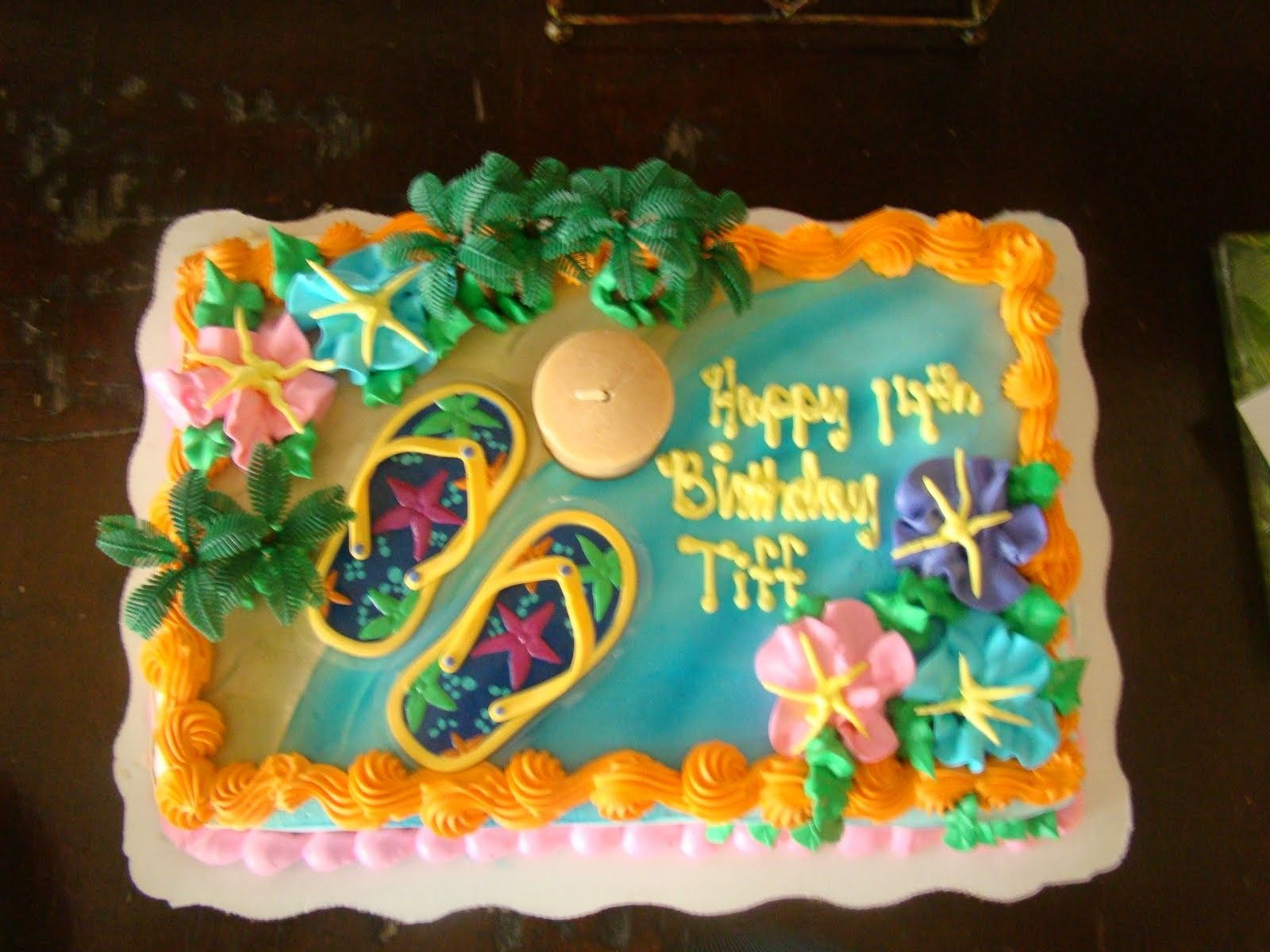 Luau Birthday Cakes Walmart Party 50th Boss
