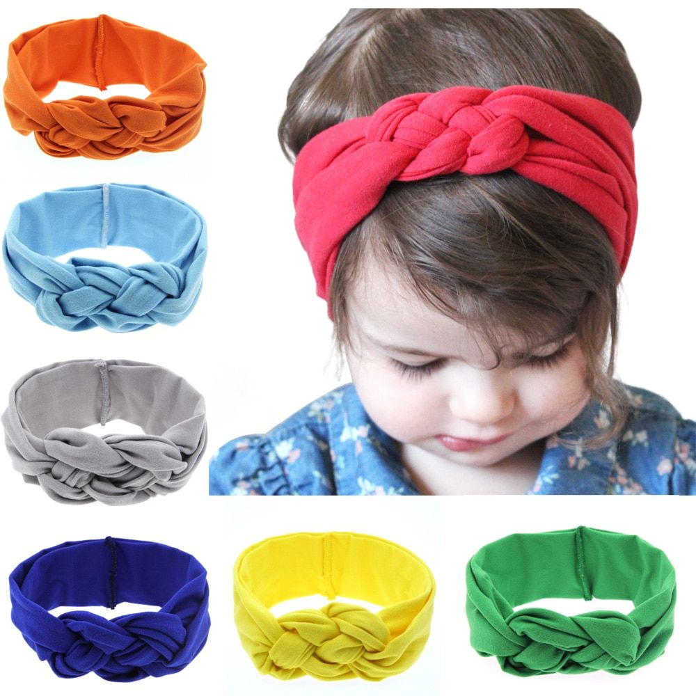 Newborn Toddler Kid Baby Girls Turban Elastic Headband Headwear Accessories Cute