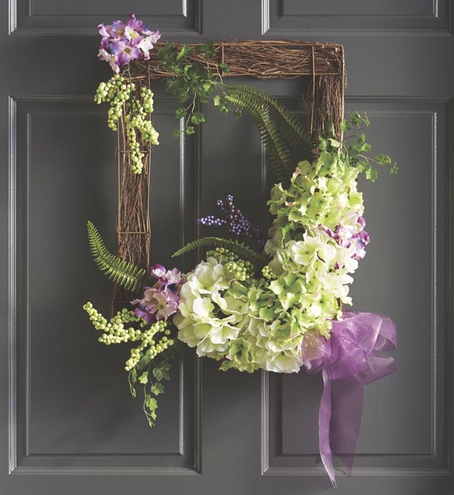Wreath hanging made with frame (With images) Summer door