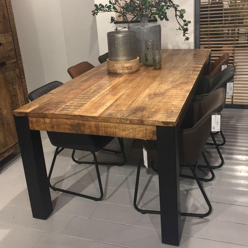 Industrial Esstisch 160 X 90 Cm Akazie Massiv Tisch In 2020 Esstisch Industrial Holztisch Esstisch Esstisch