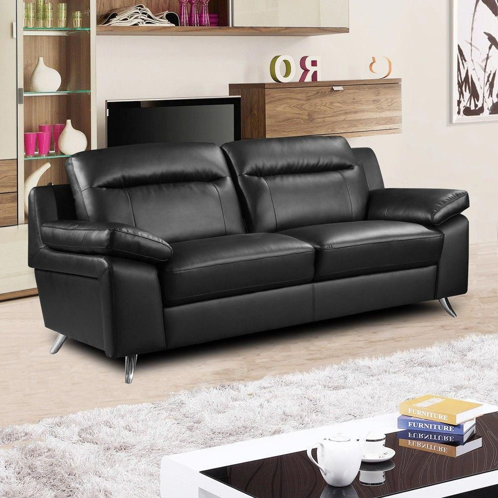 Black Leather Sofa A Magical Touch Of Style For Every Home In 2018 Black Leather Sofas Black Leather Modern Sofa