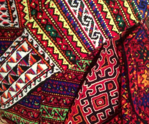 Iranian socks from the pinterest page of The Nomad's Tent, a carpet dealer in Edinburgh.