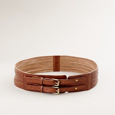 J. Crew leather double buckle belt. $55. I tried this on and loved it. Wish it weren't so expensive!
