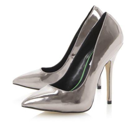 STEVE MADDEN Metallic DARRT SM - Metallic Pointed Toe Court Shoe | Dune Shoes Online