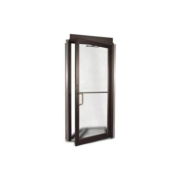 COMMERCIAL ALUMINUM STOREFRONT DOOR & FRAME (DARK BRONZE FINISH ...