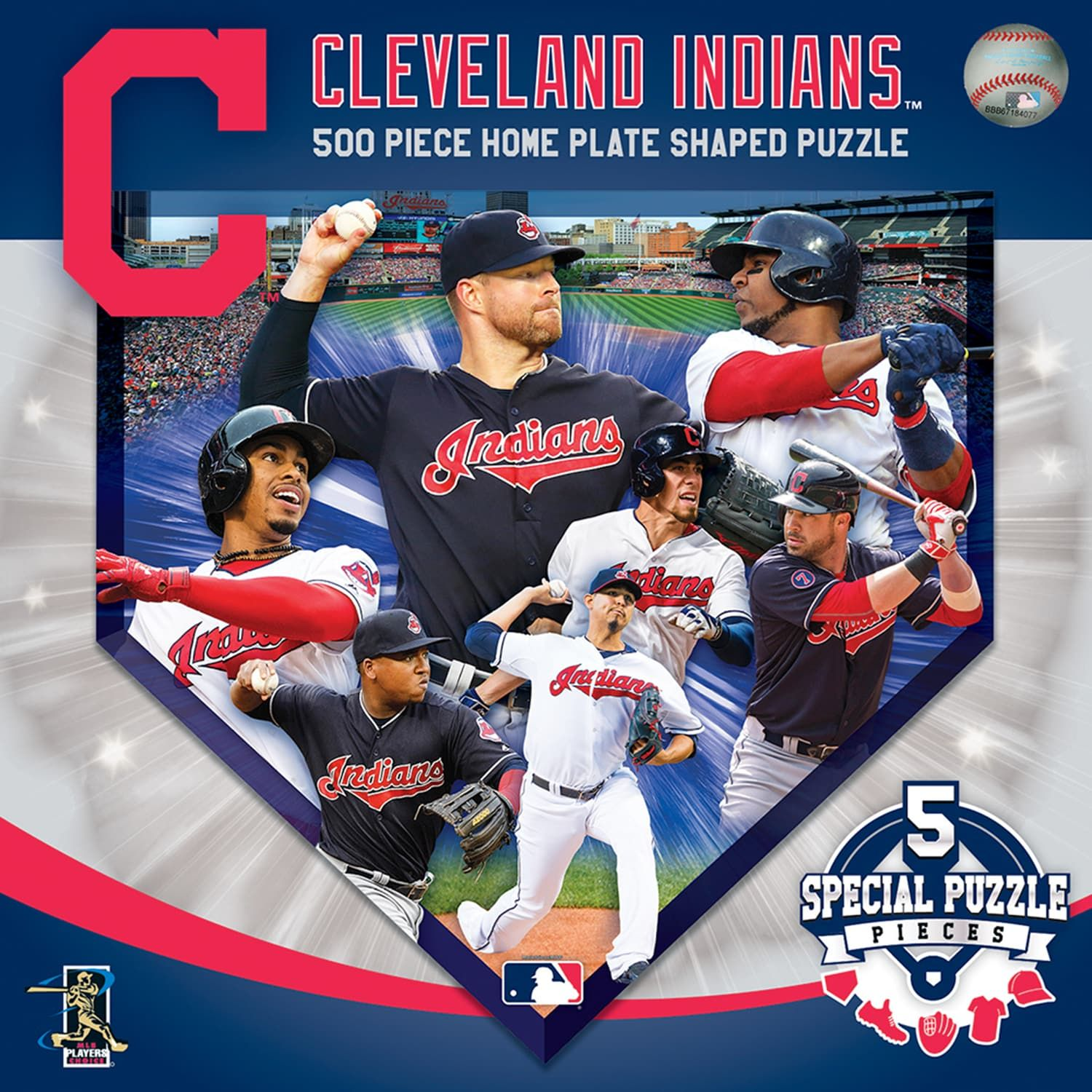 Cleveland Indians Mlb Home Plate Shaped Puzzle Affiliate Mlb Sponsored Indians Cleveland Home Cleveland Indians Shape Puzzles Indians