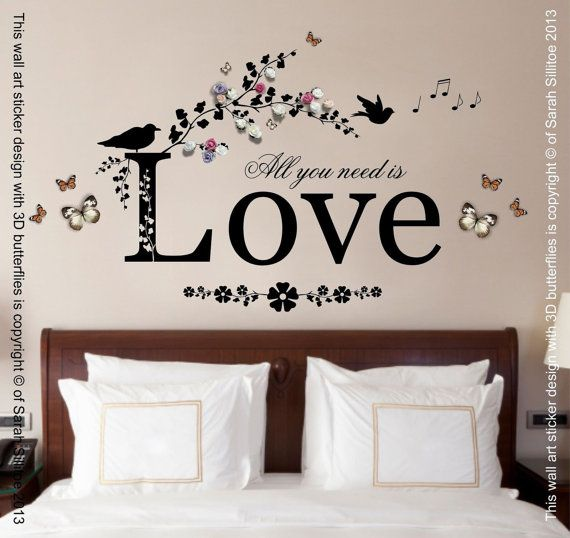 Hey, I found this really awesome Etsy listing at https://www.etsy.com/uk/listing/270497108/all-you-need-is-love-quote-vinyl-wall