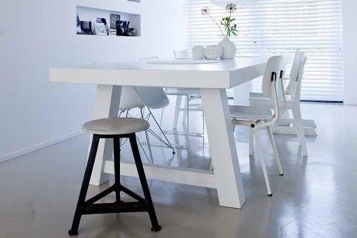 Eettafel Wit Hout : Eettafel wit hout google zoeken eettafel
