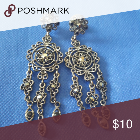 Chandelier earrings marcasite chandelier earrings and piercing chandelier earrings aloadofball Image collections