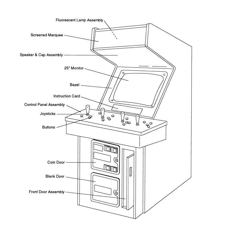 Original Nba Jam Monitor Dimensions 25 4 3 Ratio Galaga