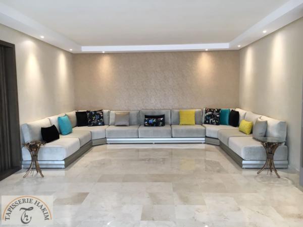 Salon marocain – salon marocain gris – salon moderne ...