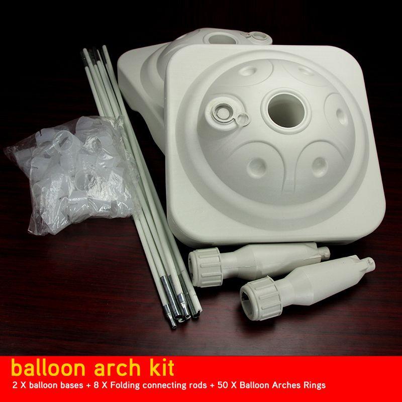 Square Sturdy Balloon Arch Frame Kit 25m30m White Two