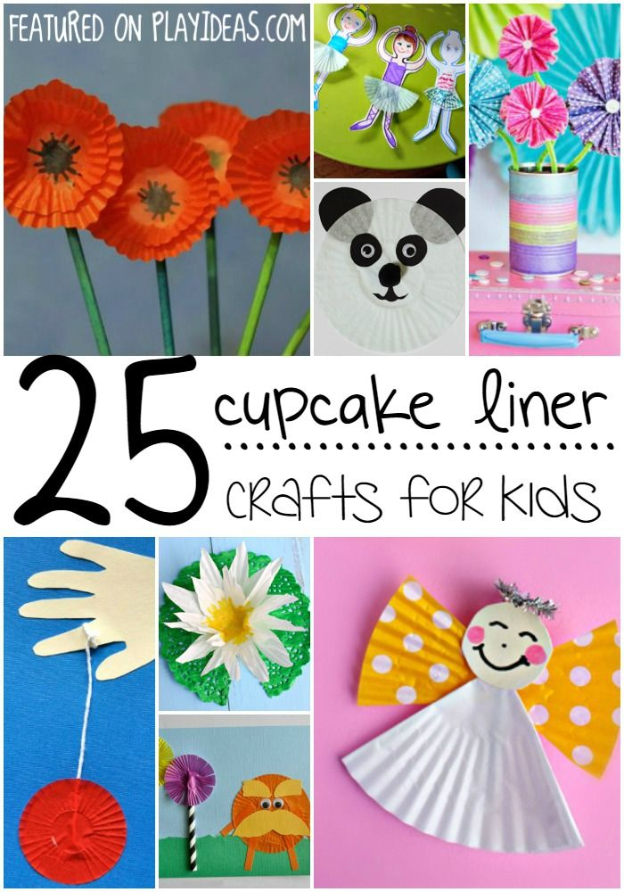 25 Delightful Cupcake Liner Crafts For Kids Arts 0 Pinterest