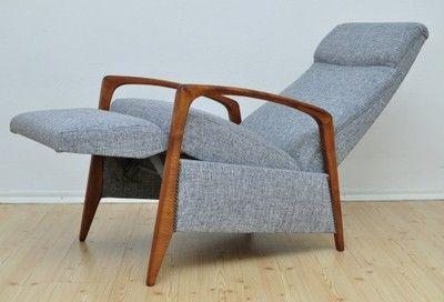 Fotel Rozkładany Duński Skandynawski Design 6070 Meble W