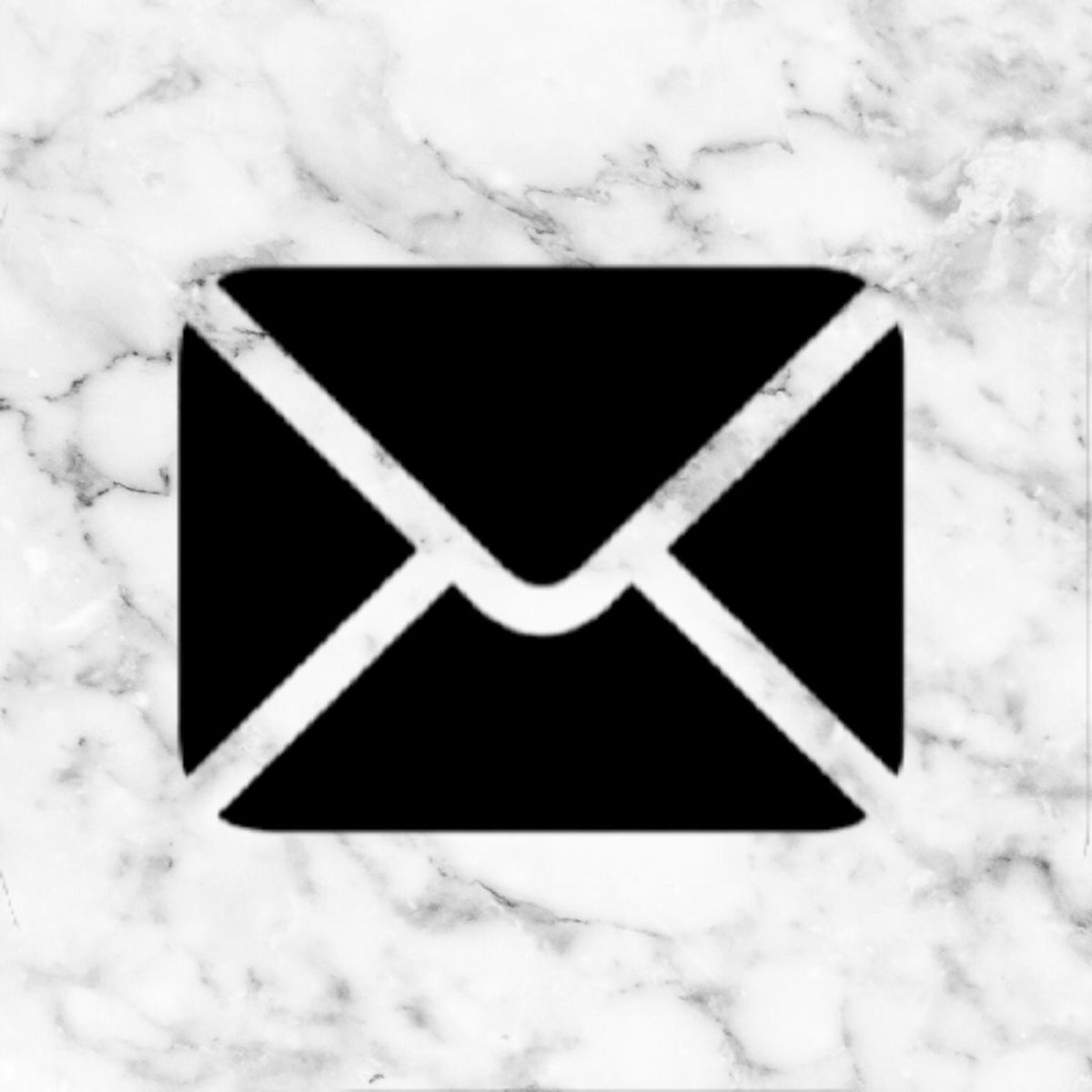 Mail White Marble Icon Ios App Icon Design App Icon App Store Icon