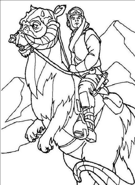 Star Wars Hansolo Cool Horse Ride Coloring Page   Dh - ART to COLOR ...