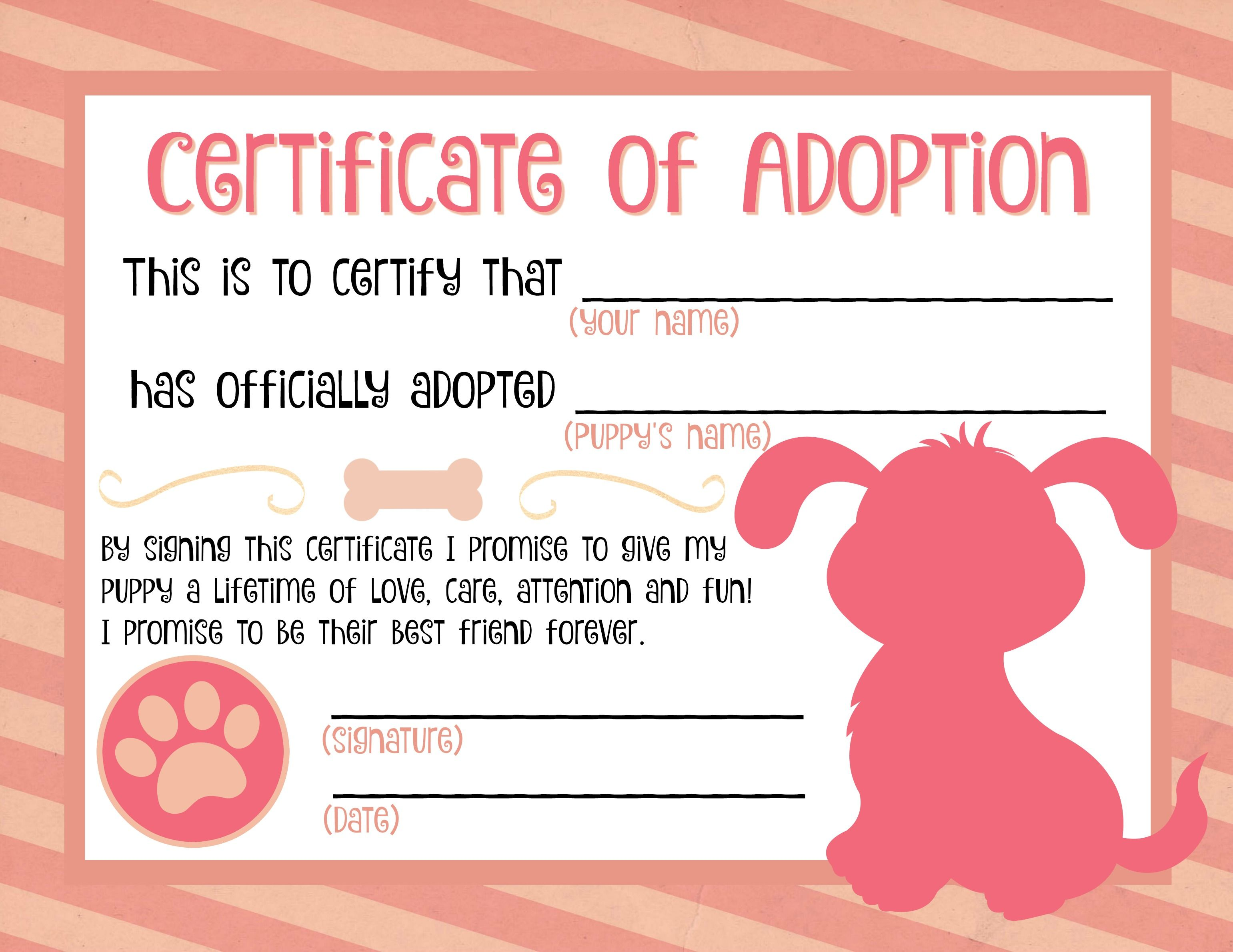 It is a graphic of Exceptional Printable Adoption Certificate
