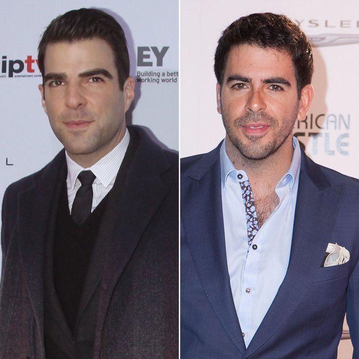 Pin for Later: Diese prominenten Doppelgänger sind einfach unglaublich Zachary Quinto und Eli Roth Quelle: Getty / Jim Spellman, Gabriel Olsen