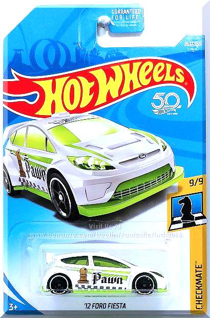 Hot Wheels 12 Ford Fiesta Checkmate 9 9 263 365 2018 White Edition Hot Wheels Hot Wheels Toys Hot Wheels Cars