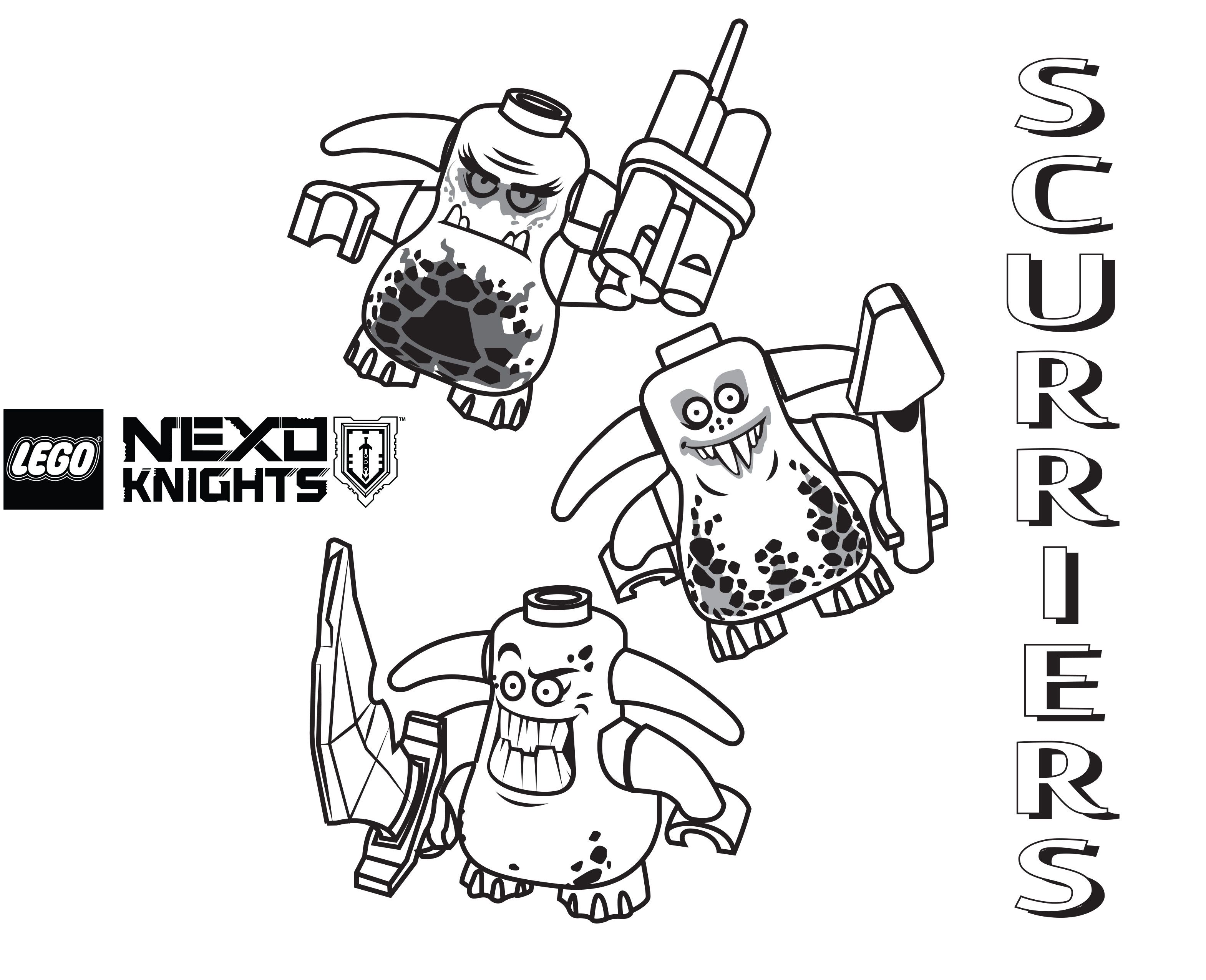Nexo Knights Monster Ausmalbilder : Lego Nexo Knights Coloring Pages Free Printable Lego Nexo Knights