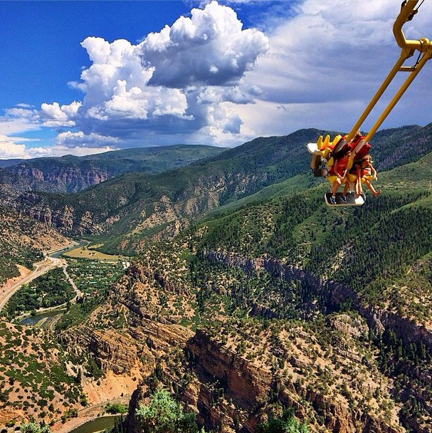 Who's ready for a ride on the Giant Canyon Swing at Glenwood Caverns Adventure Park? Photo by @taylonwayne. #GlenwoodSprings #Colorado www.visitglenwood.com
