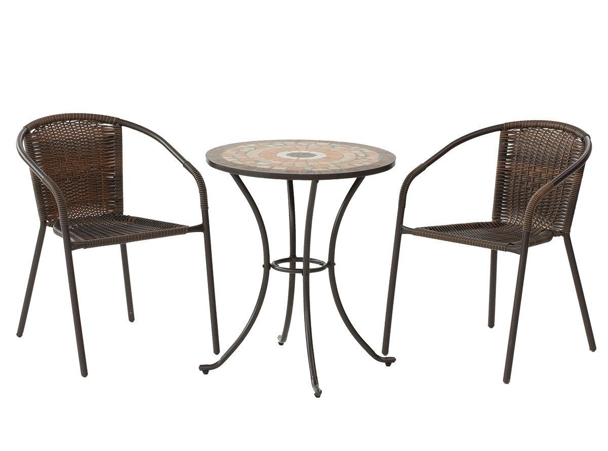Conjunto de exterior formado por mesa redonda de 60 cm y sillones ...