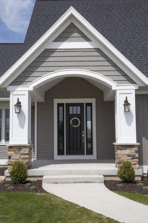 Best Traditional Front Door With Golden White Ledger Panel Gaf 640 x 480