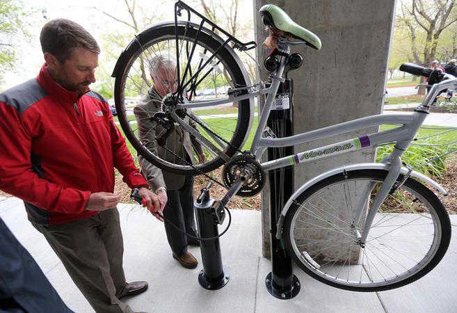 Health Department Kicks Of National Bike Month With New Fix It Station National Bike Month New Bicycle Bike
