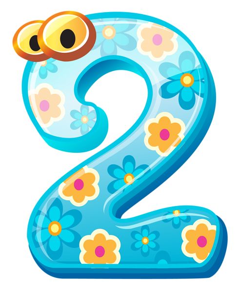 Cute Number Two Png Clipart Image Clip Art Free Clip Art Alphabet And Numbers