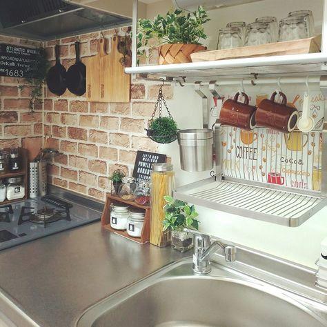キッチン 1ldk 2人暮らし 賃貸アパート 賃貸 などのインテリア実例